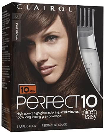 Amazon clairol perfect 10 by nice n easy hair color 006 clairol perfect 10 by nice n easy hair color 006 light brown solutioingenieria Images