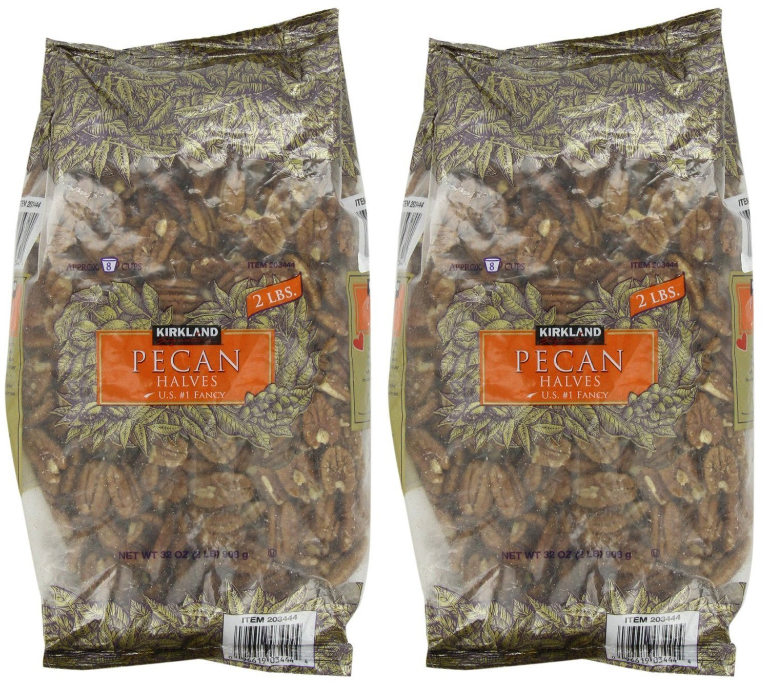 Kirkland Signature, Pecan Halves 2 Pounds wczbl (Pack of 2) by Kirkland Signature