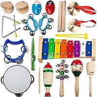 14-Piece Five Color Lines Kids' Musical Instrument Set