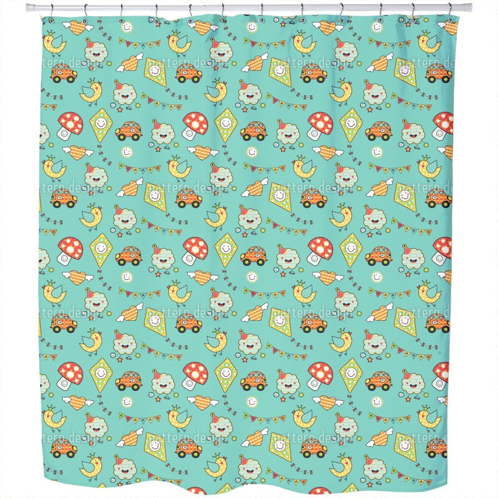 Come On Kids Shower Curtain: Large Waterproof Luxurious Bathroom Design Woven Fabric