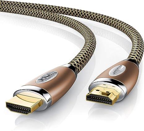 Premium Nylon High Speed HDMI 2.0 Kabel 3D 4K UHD TV FullHD 2160p 1080p Lan DTS
