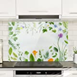 Compra bilderwelten panel antisalpicaduras de cristal three ice cubes with lemon balm - Panel antisalpicaduras cocina ...