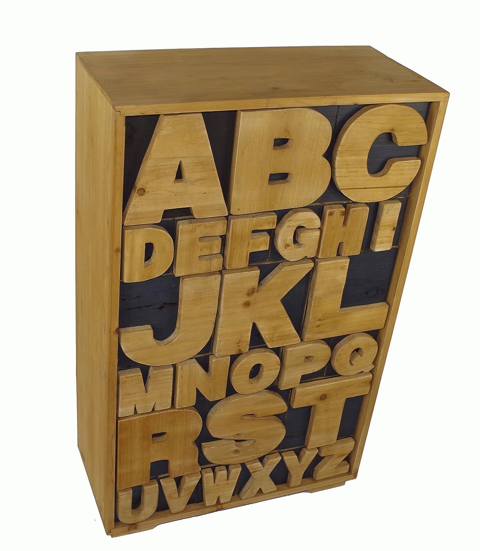 Geko 54 x 26 x 89 cm Alphabet Cabinet N0140