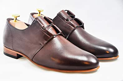 Luciano Brown Leather Shoes