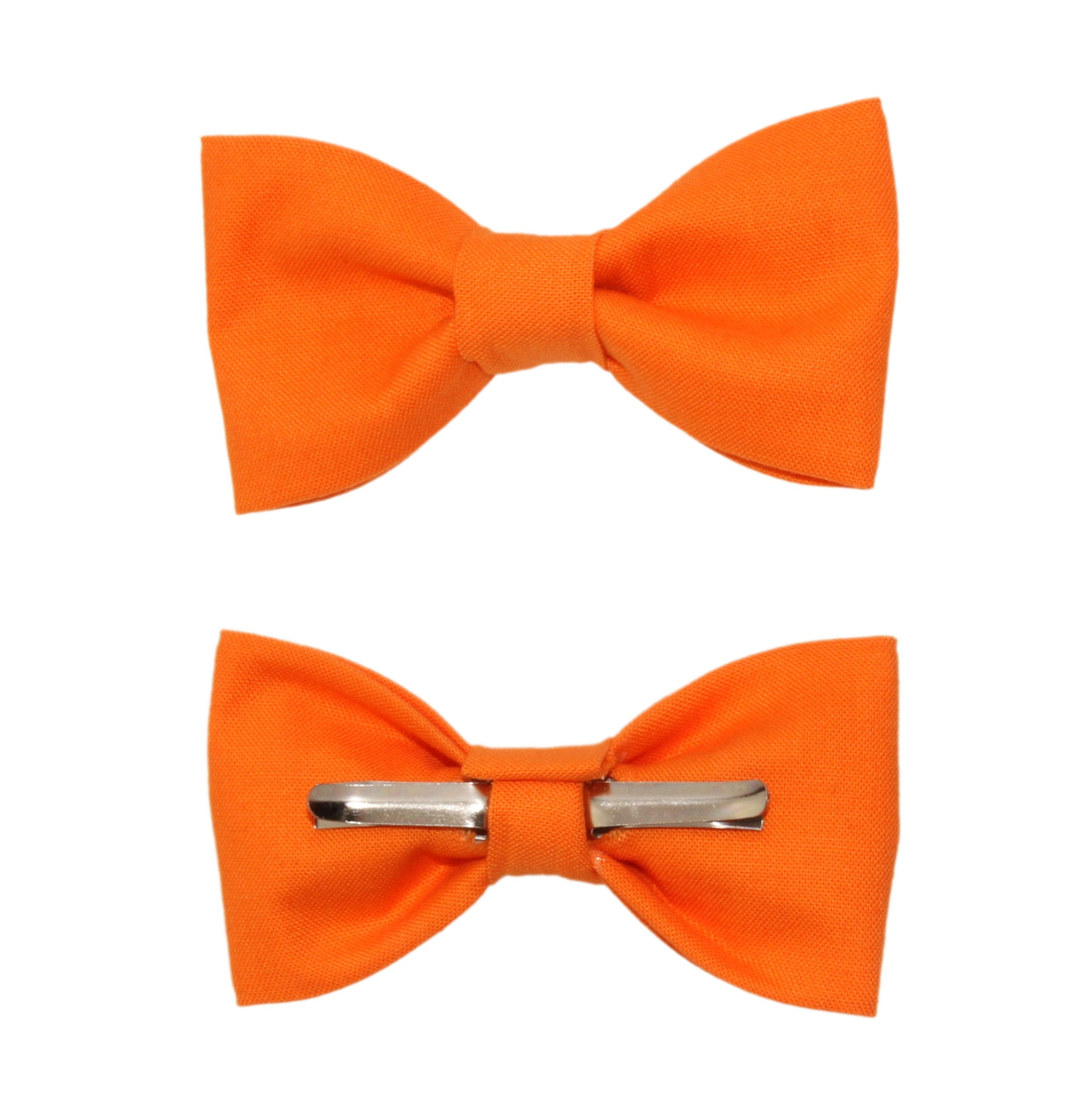 Toddler Boy 3T 4T Orange Clip On Cotton Bow Tie Bowtie by amy2004marie