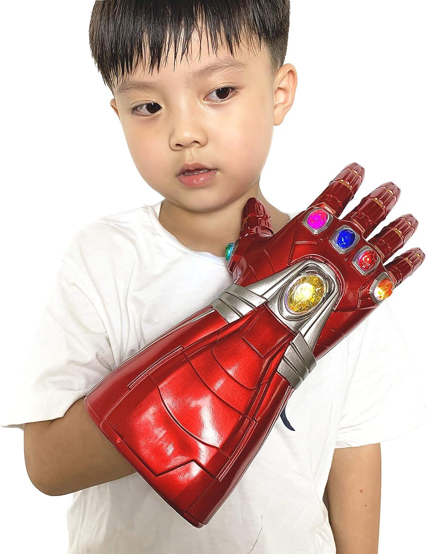 Yacn - Guantelete para adulto de Iron Man «Vengadores Endgame», guantelete Gemas del Infinito, con efectos luminosos