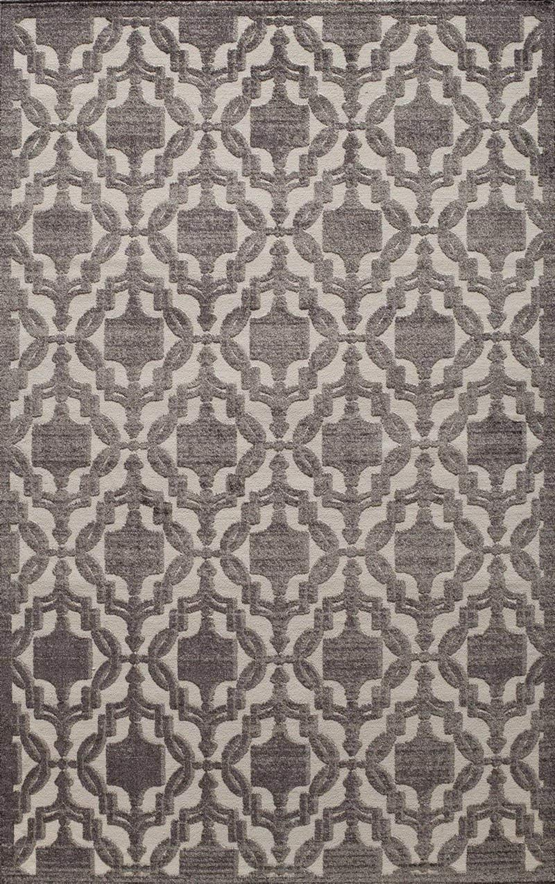 Rugs America RV500D Area Rug, 2 7 x 4 11 , Charcoal