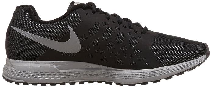 separation shoes 4dd64 373c4 Amazon.com   Nike Mens Zoom Pegasus 31 Flash Black Reflect Silver Running  Shoe 8 Men US   Road Running