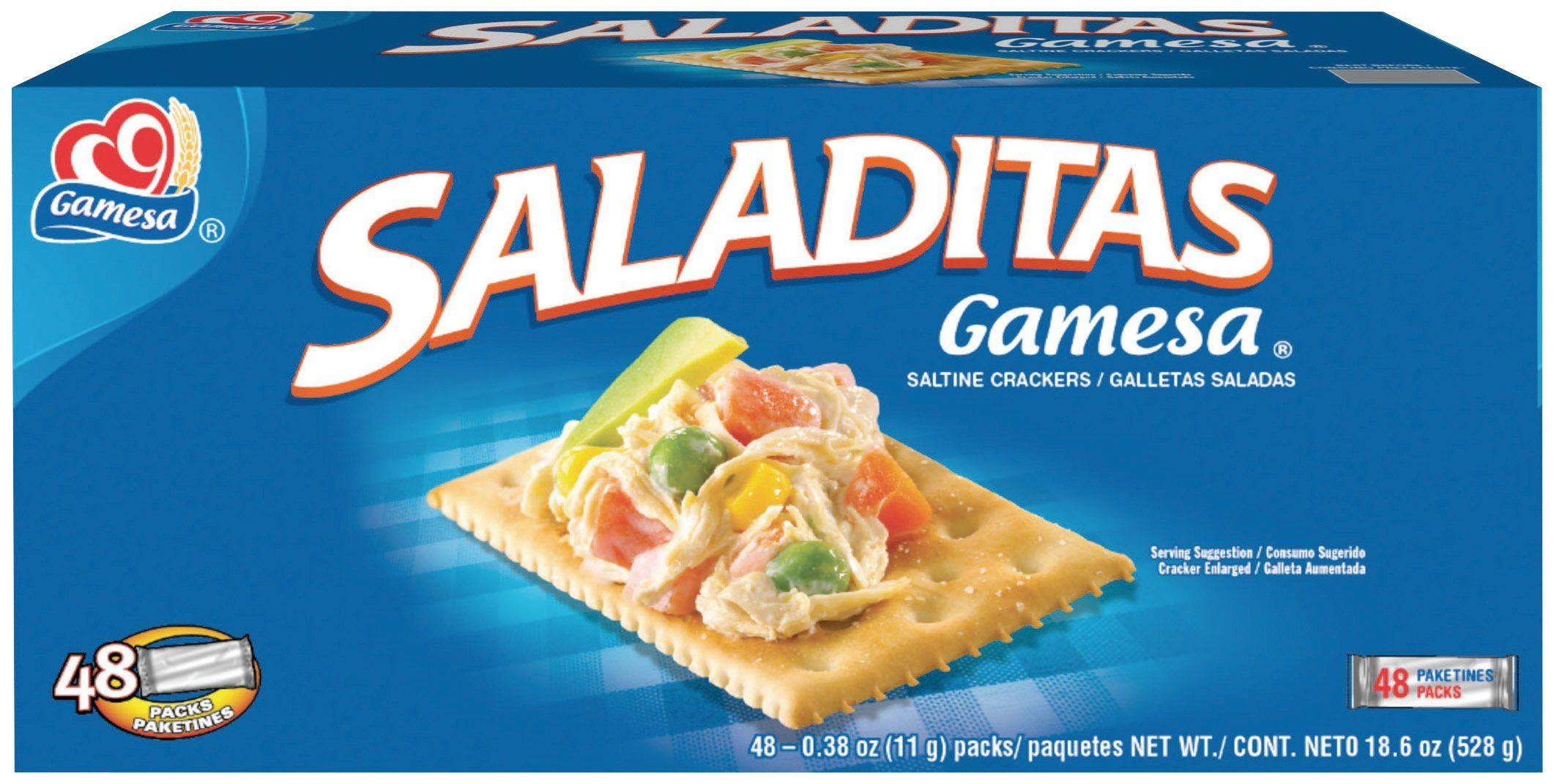 GAMESA Saladitas Cracker, 18.60 Ounce (Pack of 12) by Gamesa
