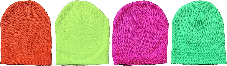 Yacht /& Smith Kids Winter Beanie Hat Assorted Colors Bulk Pack Warm Acrylic Cap