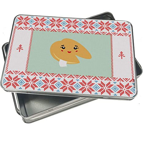 Amazon com: NEONBLOND Cookie Tin Box Fortune Cookie Cute
