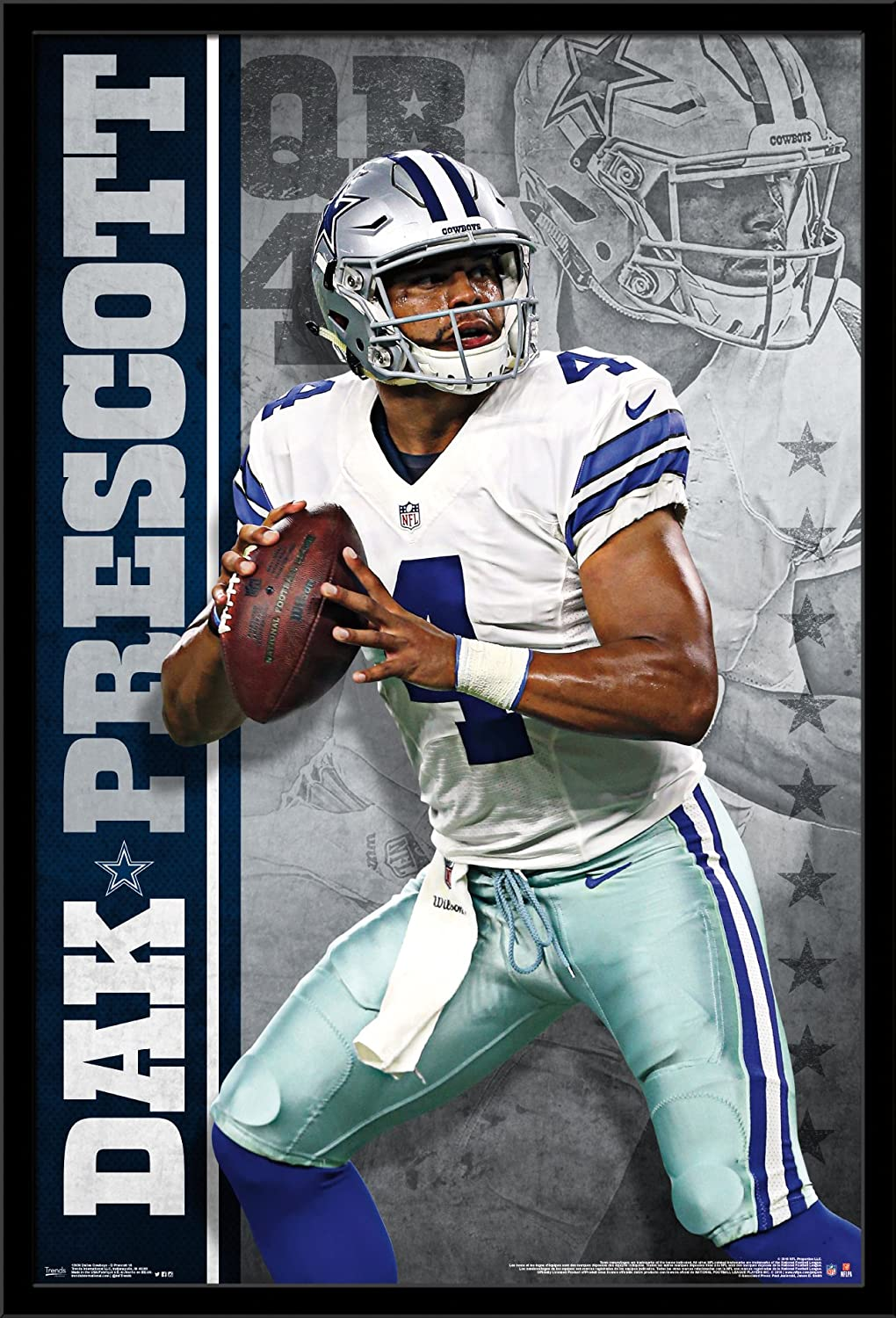 Poster - NFL - Dallas Cowboys - E Elliott 16 New Wall Art 22x34 rp15013 Trends  International Top Christmas gifts 2018 7fd4ea948