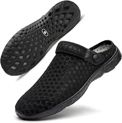 SIKELO Mens Air Cushion Clogs Shoes Sandals Slippers (Size 6.5-10)