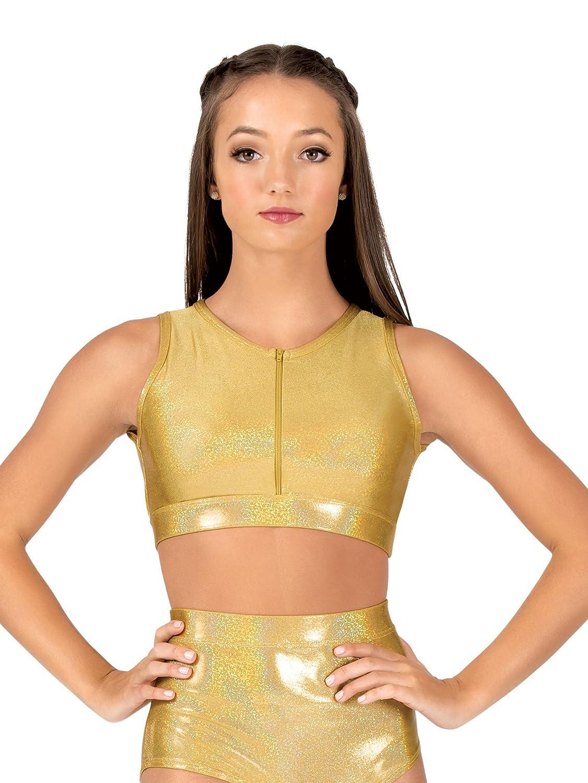 Womens Iridescent Performance Zip Front Bra Top ING123 at Amazon Women s  Clothing store