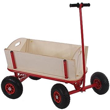 Mendler Bollerwagen Handwagen Leiterwagen Oliveira Ohne Sitz Mit