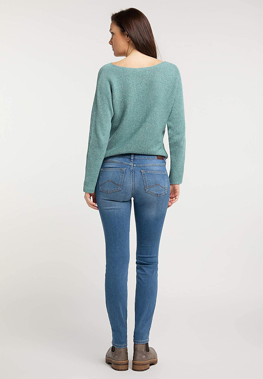 MUSTANG Damen Slim Fit Caro Jeans 5000-302 Mittelblau