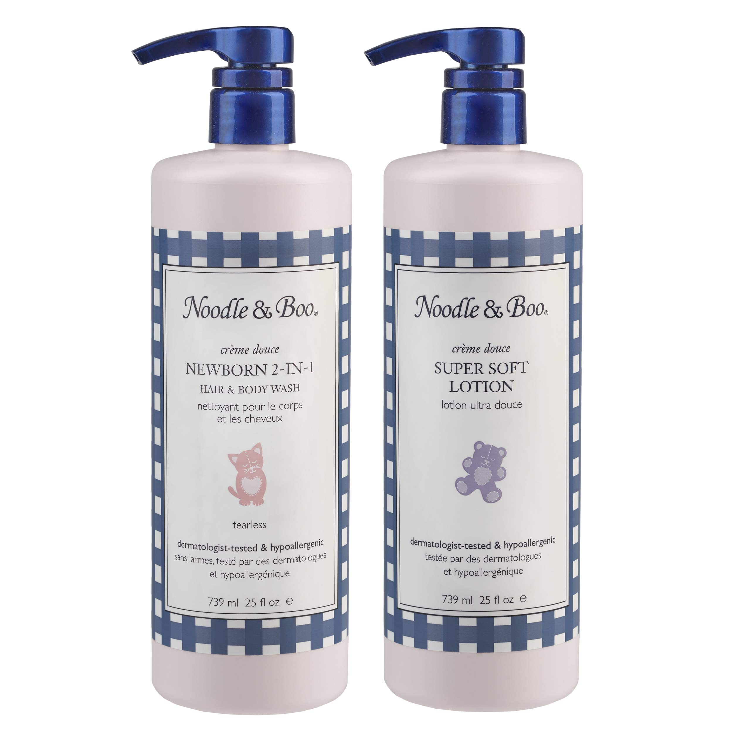 Noodle & Boo 2-in-1 Newborn Hair & Body Wash and Super Soft Lotion Bundle