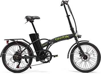 BIWBIK Bicicleta ELECTRICA Plegable Book (Negro): Amazon.es ...
