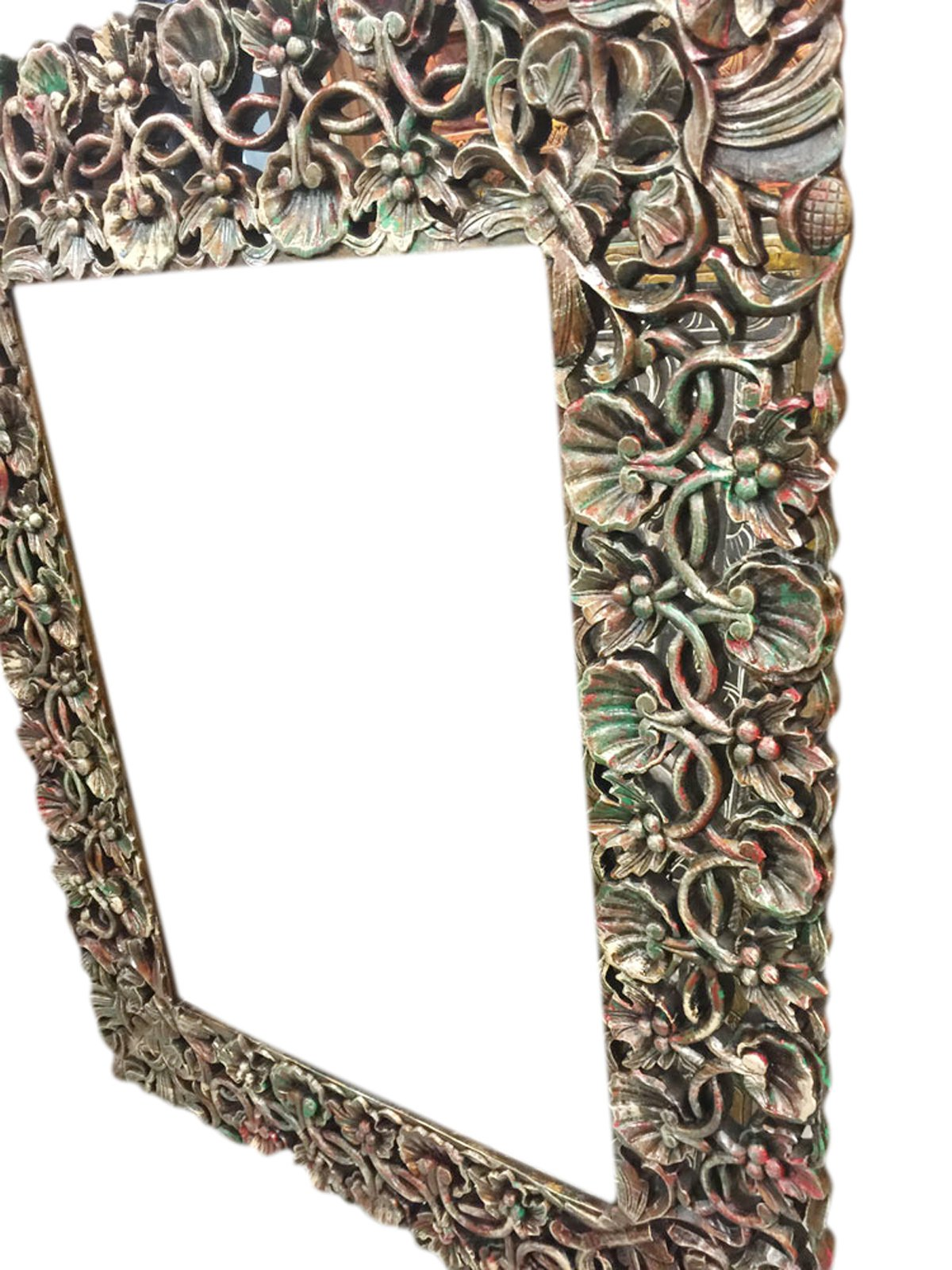 Antique miror Frame Hand Carved and Hand painted , Cherry Leaf Clusters, wall hanging Frame by Mogul Interior (Image #3)