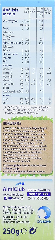 Alminatur Papilla de multicereales con plátano a partir de los 6 meses 250 g: Amazon.es: Alimentación y bebidas