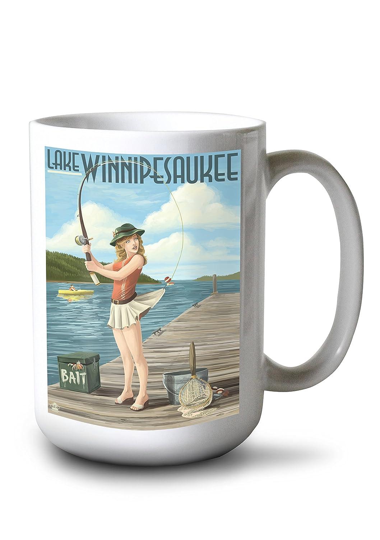大特価 湖Winnipesaukee、New 15oz Hampshire – Pinup 16 Girl釣り Giclee 16 x 24 Giclee Print LANT-37093-16x24 B077S1CLJ7 15oz Mug 15oz Mug, サッカー問屋:fb86de7e --- movellplanejado.com.br