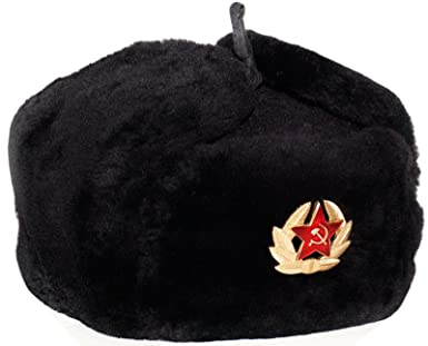Amazon.com  Navy Officer of the Russian Federation Lambskin Ushanka ... 0960188d5e1