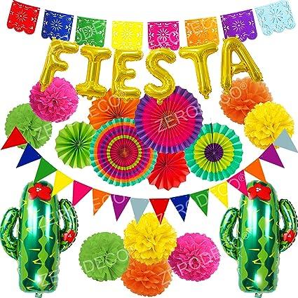 Fiesta Picado Pennant Banner Cinco de Mayo Birthday Party Mexican Event Festival