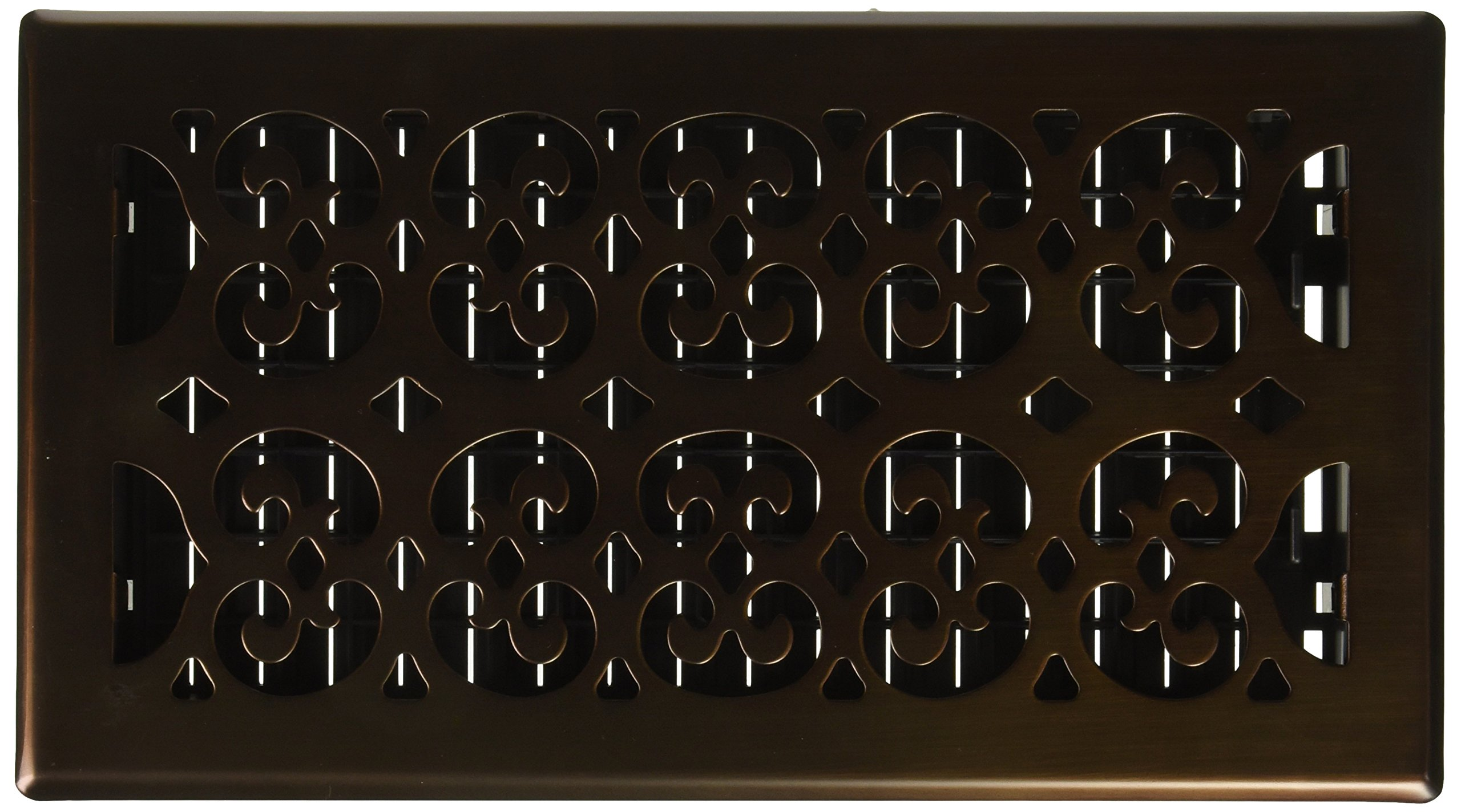Decor Grates SPH612-RB Scroll Floor Register, 6-Inch by 12-Inch, Rubbed Bronze
