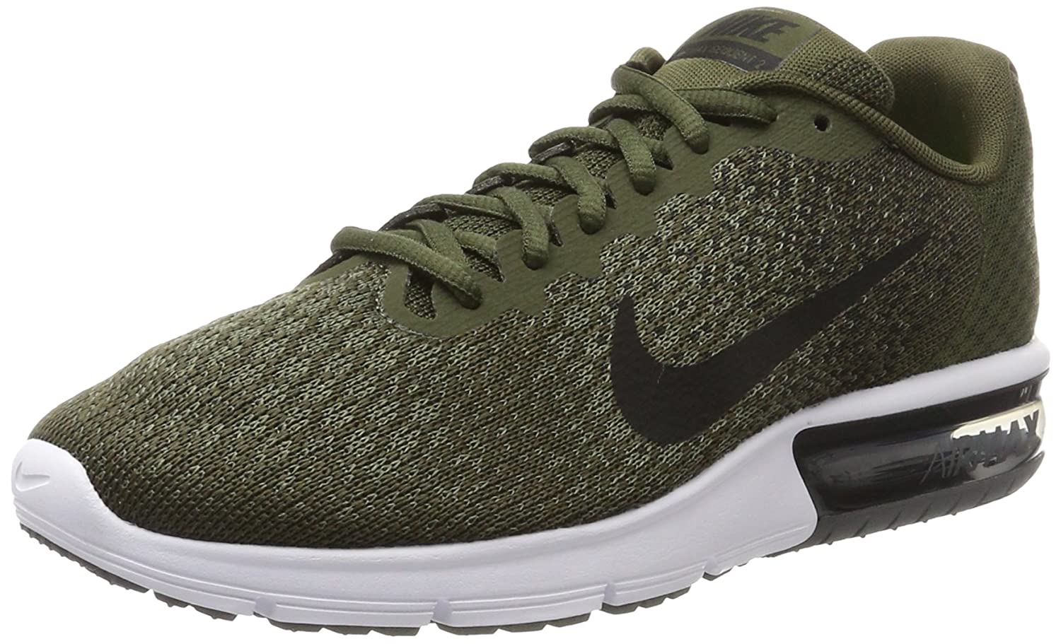 low cost 5fa95 df926 Nike Men s Air Max Sequent 2 Olive Green Running Shoes  Buy Online at Low  Prices in India - Amazon.in