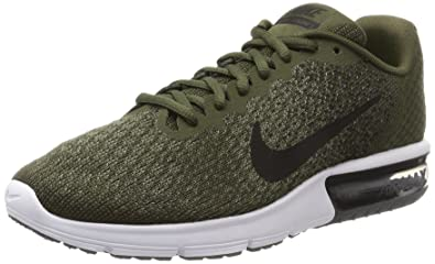a9807153 Nike Men's Air Max Sequent 2 Olive Green Running Shoes: Buy Online ...