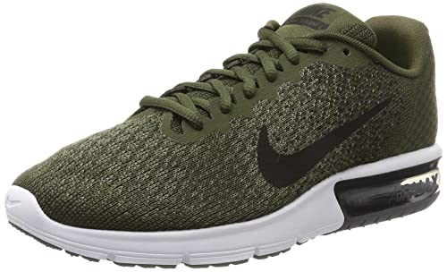 8f6540664e2bc Nike Men s Air Max Sequent 2 C.Khaki Blk-M.Olive-D.Gry Running Shoes ...