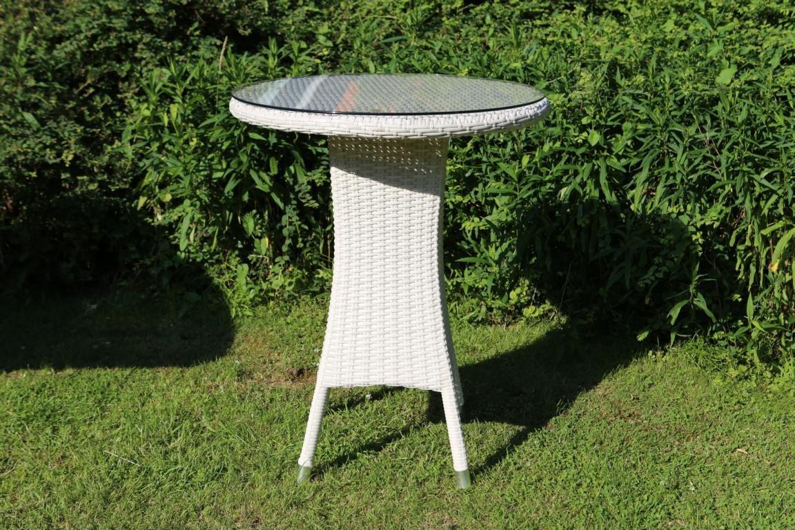 Destiny Gartentisch Melia Round 60 cm Polyrattan Tisch Esstisch Geflechttisch
