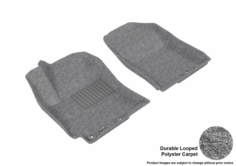 3D MAXpider Complete Set Custom Fit Floor Mat for Select Hyundai Accent Models Tan Classic Carpet L1HY02202202