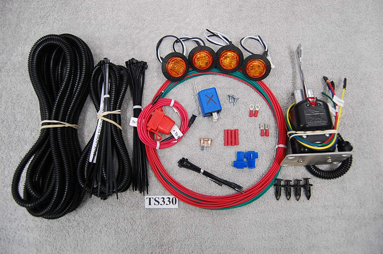 Polaris Ranger EV 400 500 /& Crew 570 800 Mid-Size LED Turn Signal Kit Horn