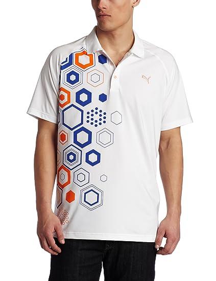 7a84df47e5d6 Amazon.com  Puma Men s Golf Tech Graphic Polo