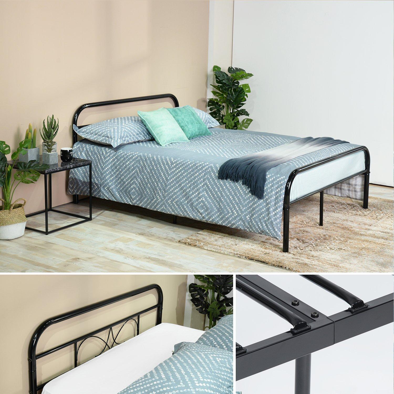 EGGREE Gästebett Doppelbett Metallbett Metall Rahmen Bett Tagesbett ...