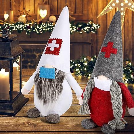 Christmas Faceless Plush Doll Ornaments Gnome Christmas Ornaments Holiday Kids Xmas Gifts Table Santa Figurines