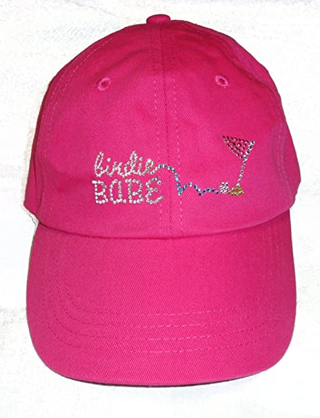 Amazon.com   Birdie Babe Ladies Golf Hat Hot Pink Bling Womens Golf ... 9f82e7deced