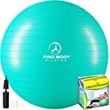 ProBody Pilates Ball Exercise Ball Yoga Ball, Multiple Sizes Stability Ball Chair, Gym Grade Birthing Ball for Pregnancy, Fit