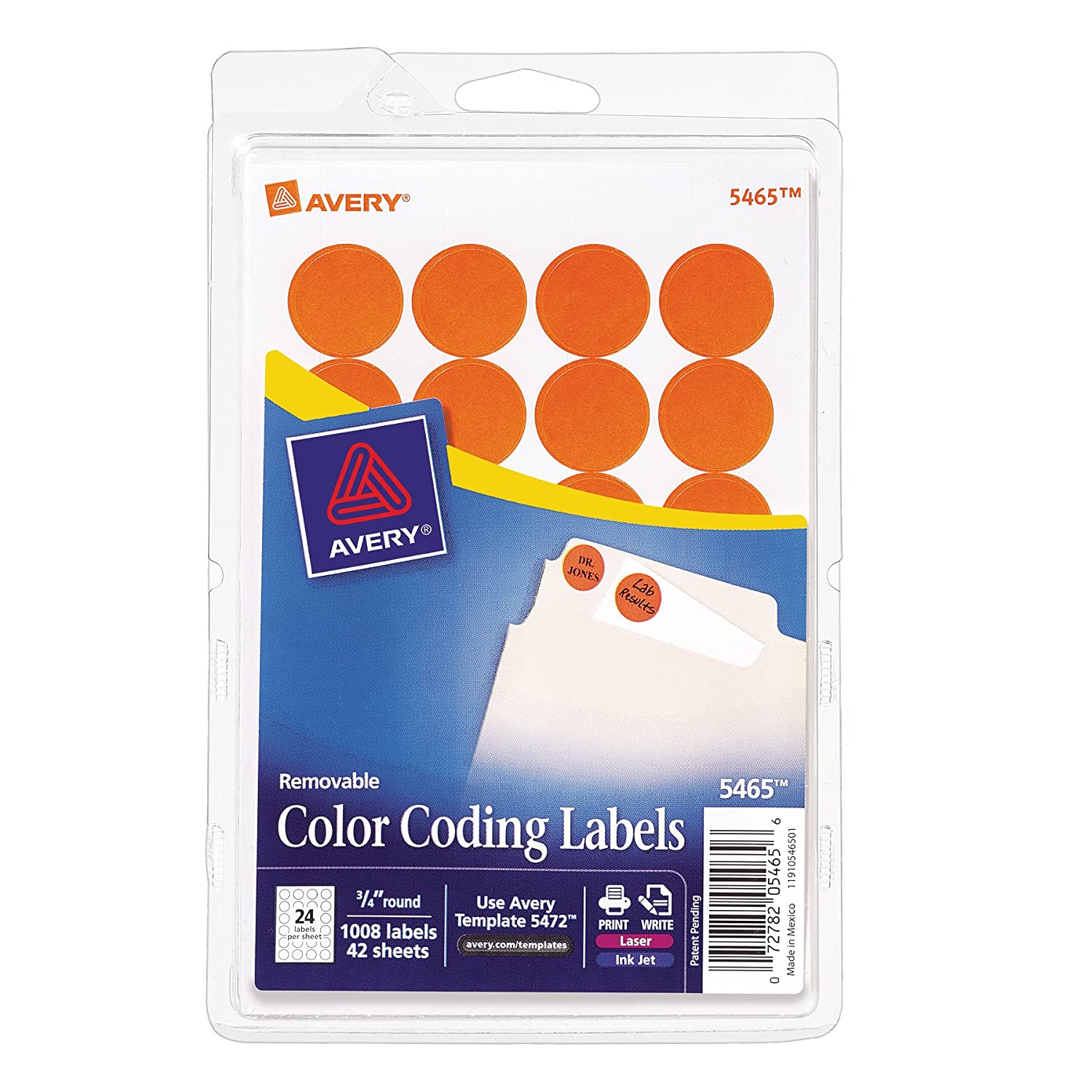 Amazon.com : Avery Print/Write Self-Adhesive Removable Labels ...