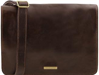 Tuscany Leather TL Messenger - Borsa a tracolla 1 scomparto - Misura grande Testa  di Moro cecd0263285