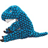 KONG - Dynos T-Rex Blue - Dinosaur Squeak Dog Toy, Reinforced Lining and Varied Textures - For Large Dogs
