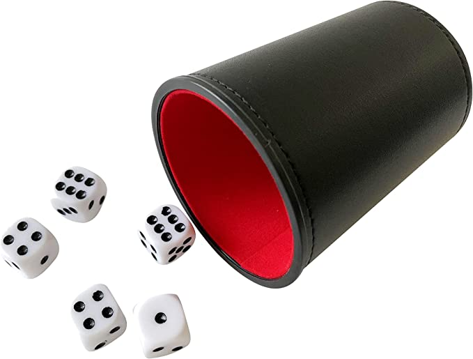 Kent /& Cleal Poker dice and dice cup 00592