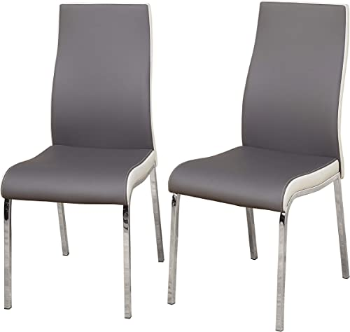 TMS Nora Chrome Plated and Faux Leather Retro Dining