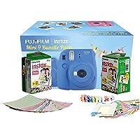 Fujifilm Instax Camera Mini 9 Bundle Pack (Cobalt Blue) with 40 Films Shot Free