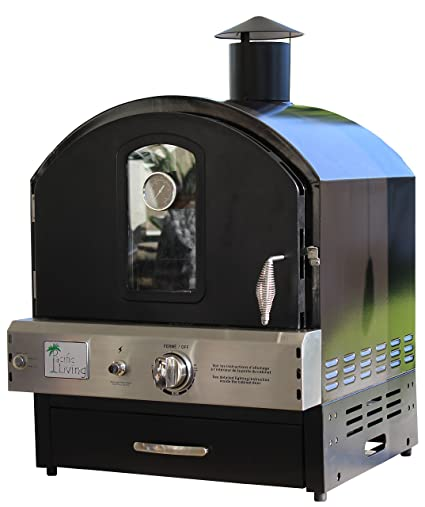 Good Pacific Living Outdoor Build In Or Counter Top Large Capacity Gas Oven With  Pizza Stone