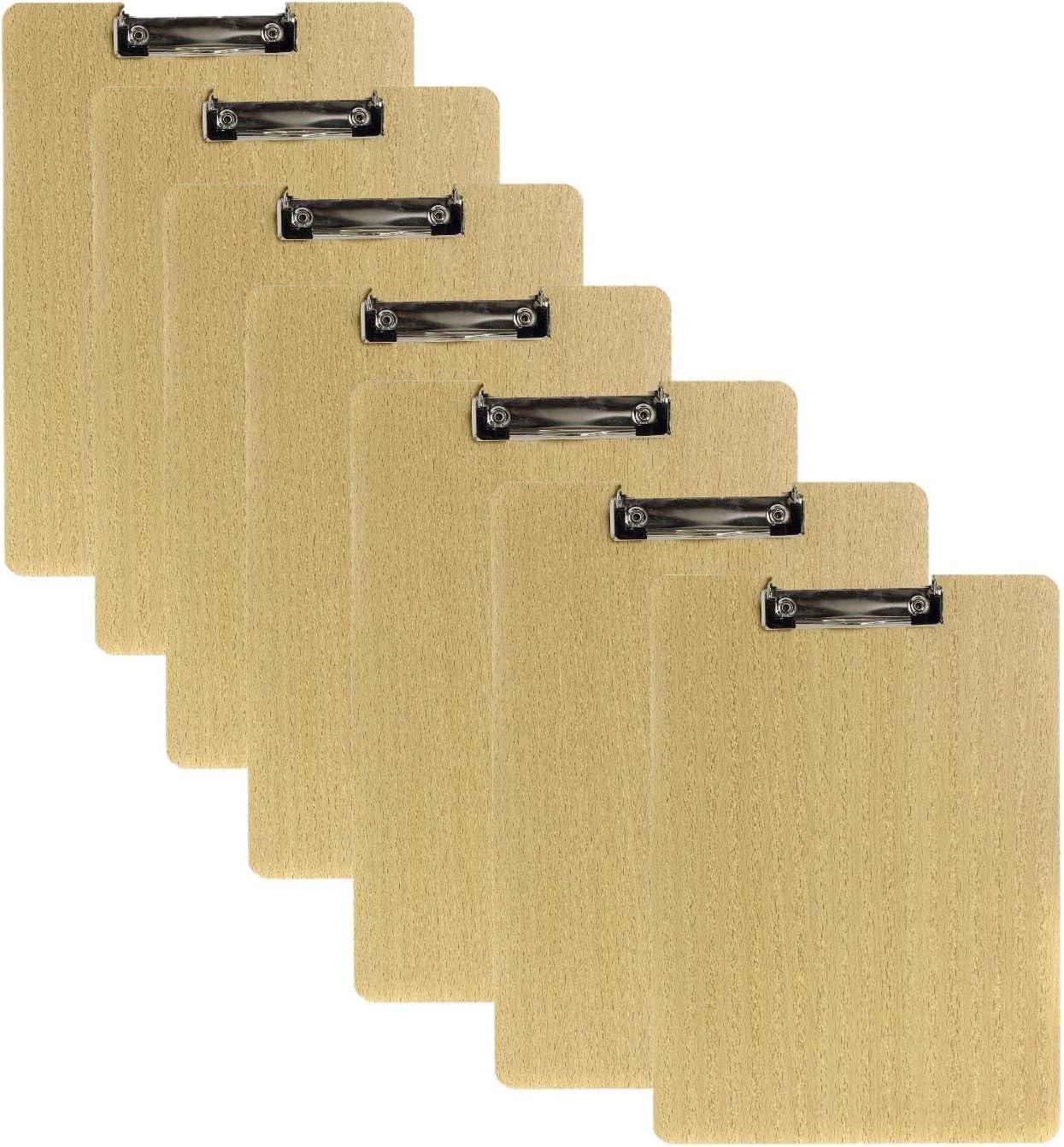 Hartplatten-Klemmbrett f/ür Outdoor Skizzierung Schreiben JZK 7 x klemmbrett a4 Schreibbrett holz clipboard mit Aufh/ängeloch