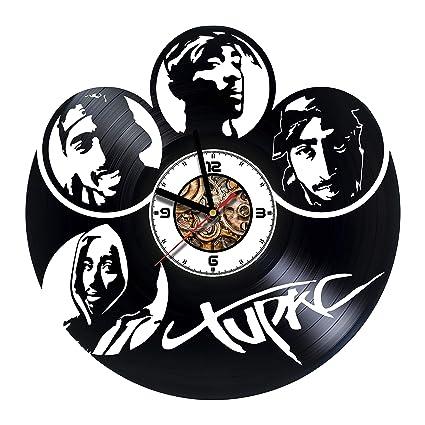 2eb1f197 Amazon.com: SokolartUA Tupac Shakur Vinyl Wall Clock American ...