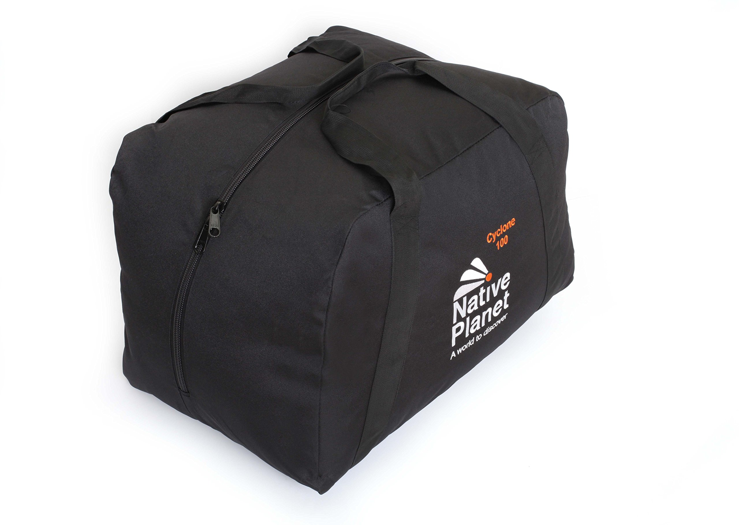 Native Planet Foldable Cyclone Travel Duffle Bag Highly Durable - Black-100L by Native Planet
