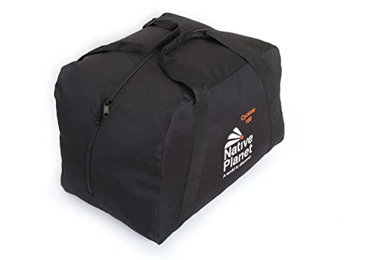 d0563a8c7aa1 Native Planet Foldable Cyclone Travel Duffle Bag Highly Durable - Black-100L